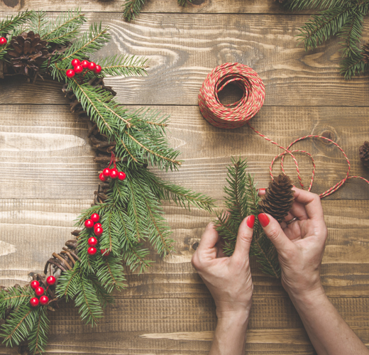 Taller entrada navideña