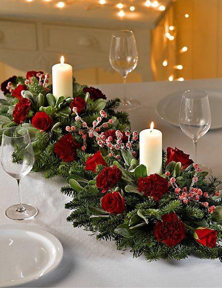 Taller centro de mesa navideño